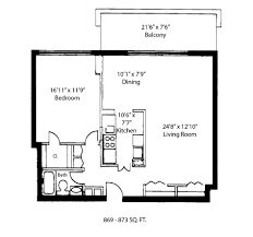 1 Bedroom Condo Floor Plans by Floorplans U2013 Madison House Condos