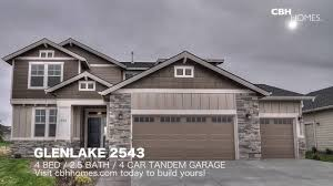 Garage Homes cbh homes glenlake 2543 3 bed 2 5 bath 4 car tandem garage