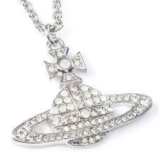 white opal necklace images Vivienne westwood kika pendant rhodium white opal vivienne jpg