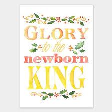 to the newborn king watercolor card set susan