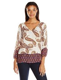 paisley blouse lucky brand s paisley print blouse top at amazon s