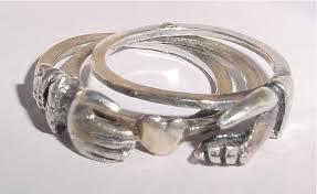 gimmel ring sterling gimmel fede ring gracious s