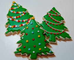 christmas cookie trees christmas lights decoration