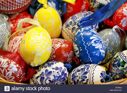 easter eggs for sale budapest hungary march 4 2016 handmade colorful easter eggs