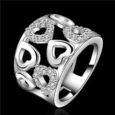 sterling silver wedding gifts 2018 design 925 sterling silver heart shaped ring with