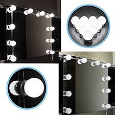 Makeup Vanity Table With Lights Waneway Hollywood Vanity Lights For Lighted Makeup Mirror Dressing