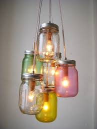 Jelly Jar Light Fixture Pretty Pastels Mason Jar Chandelier By Bootsngus Inspiration For