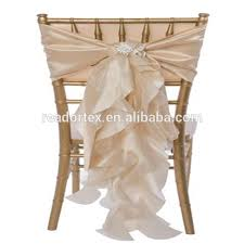 Champagne Chair Sashes List Manufacturers Of Ivory Satin Chair Sash Buy Ivory Satin