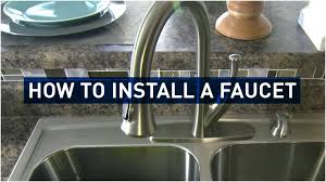 How To Install A Kohler Kitchen Faucet 100 Youtube Moen Kitchen Faucet Repair Briggs 2 Handle