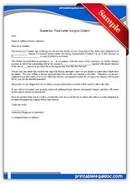 legal demand letter template free printable guarantor final letter trying to collect sample free printable guarantor final letter trying to collect sample printable legal forms