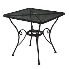 Square Patio Table by Shop Garden Treasures Woodbridge Square Patio Dining Table At