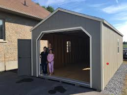 1 Car Prefab Garage One Car Garage Horizon Structures 14 U0027 X 30 U0027 Wooden Portable Garage Delivered Fully Assembled And