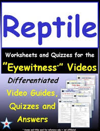 differentiated worksheet quiz ans for eyewitness reptile tpt