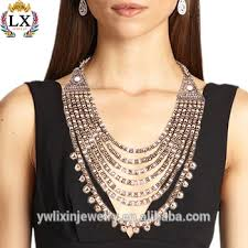 chunky necklace designs images Nlx 00221 chunky statement 7 layer bead necklace clasp ancient jpg