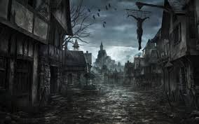 spooky town spooky town 3d and cg abstract background wallpapers on