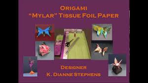 mylar tissue paper how to make origami mylar tissue foil paper