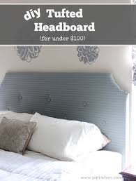 How To Make A Tufted Headboard Diy Tufted Headboard For 100 Pinkwhen