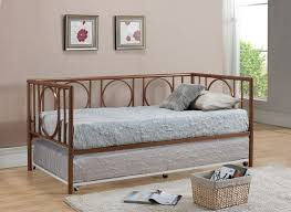 cool metal daybed with pop up trundle upholstered frame ikea