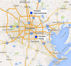map houston airports which airport should you fly into for your galveston cruise