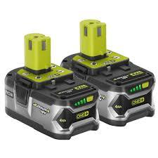 ryobi fan and battery ryobi one 18 volt high capacity lithium battery 2 pack ryobi