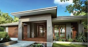 one story house designs modern render and brick facade single storey search