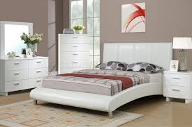 White Furniture Bedroom Sets F9241 Bedroom Set By Boss In White W Leatherette Upholstered Bed