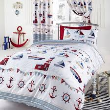 Duvet Covers Single Uk Nautical Boat Ship Lighthouse Reversible Double Duvet Cover Quilt