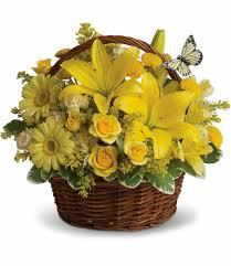 basket arrangements basket of wishes in clairton pa jim s flower shop
