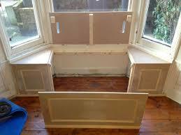 bay window kitchen seating decor window ideas