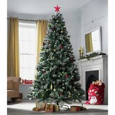 heart of house 7ft pre lit snow tipped christmas tree argos on