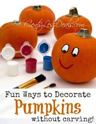 Pumpkin Decorating Without Carving Ways To Decorate A Pumpkin Without Carving Centsless Deals