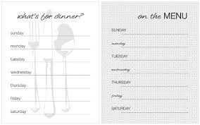blank menu template recipe book blank menu with cook tag