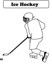 hockey coloring pages sport sport coloring pages of