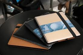 this wirebound sketchbook is actually an ipad pro case in disguise