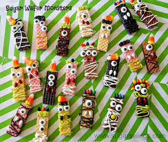 monsters halloween sugar swings serve some sugar wafer monster halloween treats