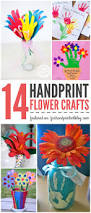 handprint flower crafts pretty spring decor u0026 perfect for