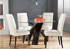 del mar ebony 5 pc round dining set dining room sets black