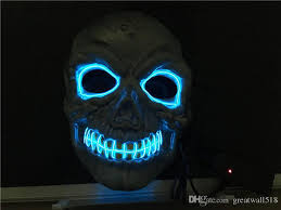 Led Halloween Costumes 2017 El Wire Mask Coplay Led Mask Costume Anonymous Mask