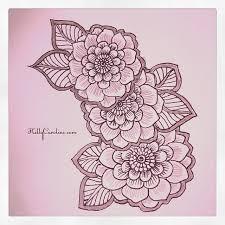 henna style flowers henna hennaartist hennatattoo drawing
