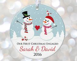 engagement christmas ornament etsy