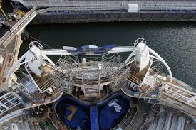world u0027s largest cruise ship leaves a port in france for maiden