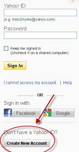 Yahoo Sign In How To Create A New Yahoo Email Account
