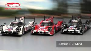 porsche hybrid 919 ck modelcars video porsche 919 hybrid 24h lemans 2015 spark youtube