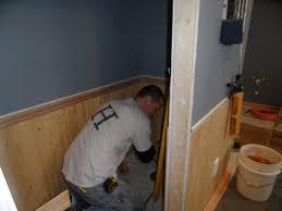 la conner master bathroom tile chair rail u0026 wood chair rail