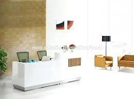 White Salon Reception Desk Desk Tall White Reception Salon With Regard To Popular Property