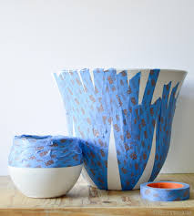 spray paint marbled planters u2022 vintage revivals
