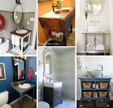 Small Bathroom Ideas Diy A Collage Of Images Of Diy Vanities For Small Baths Sink Ideas
