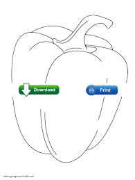 printable fruits and vegetables coloring pages for preschoolers