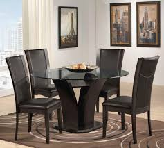 dining room glass table sets dining tables delightful dining table modern round picture of