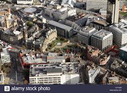 aerial view of sheffield city centre including the peace gardens